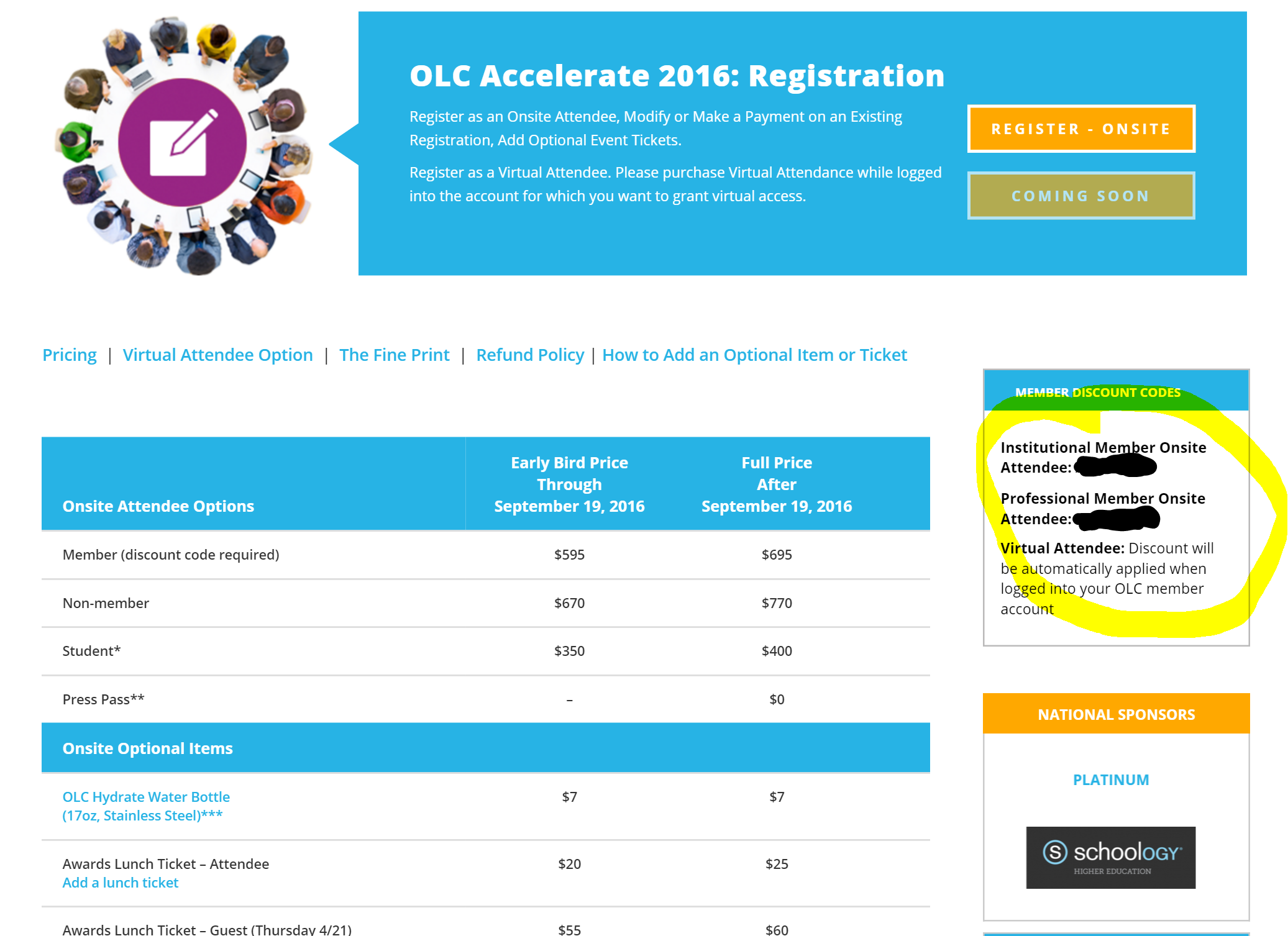 olc accelerate where do i the member discount code for what if i don t see a code